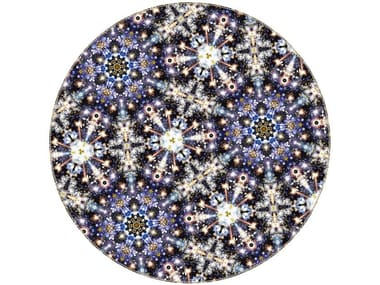 Patterned round rug FESTIVAL MIDNIGHT