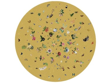 Round rug with floral pattern GARDEN OF EDEN YELLOW
