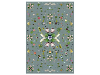 Rectangular rug with floral pattern GARDEN OF EDEN GREY
