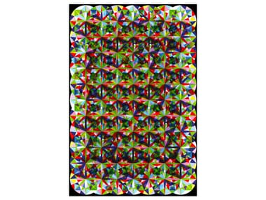 Rectangular rug with optical pattern ZIRCON