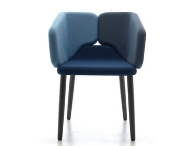 Cadeira com braços com estofado à prova de fogo MIXX | Cadeira