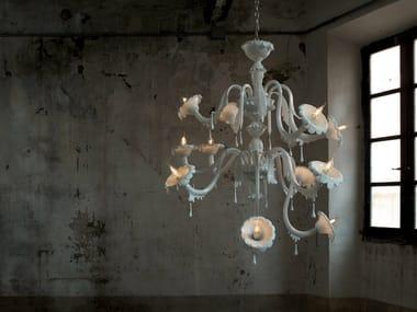 Glass chandelier AU REVOIR | Chandelier