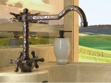 Countertop 1 hole brass washbasin tap REVIVAL DEKORA   Washbasin tap