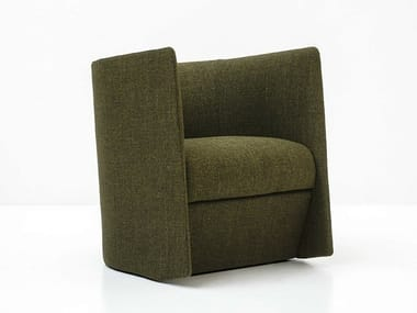 Fabric armchair with armrests PISA