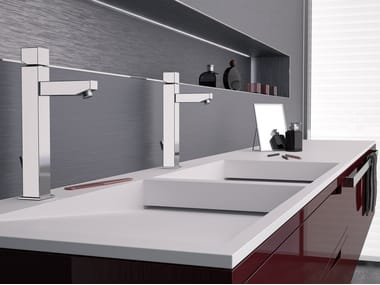Countertop single handle washbasin mixer OXY | Countertop washbasin mixer