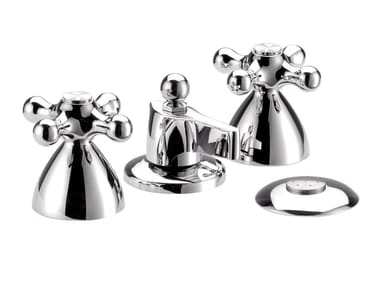 4 hole countertop chromed brass bidet tap REVIVAL | 4 hole bidet tap