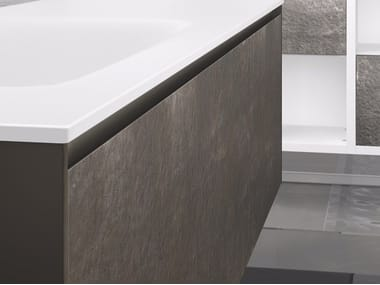 Ultra thin laminate wall tiles with stone effect ARDESIAlite™