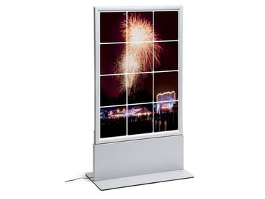Double-sided advertising totem with built-in lights Advertising totem with built-in lights