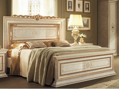 Double bed with high headboard LEONARDO | Bed