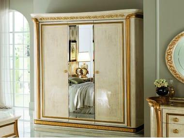 Mirrored wooden wardrobe MELODIA | Mirrored wardrobe