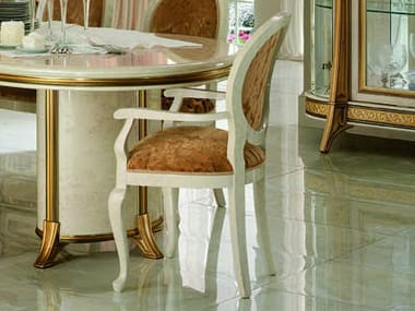Upholstered restaurant chair MELODIA | Chair with armrests
