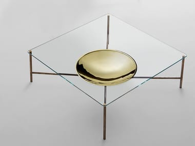 Low square coffee table for living room GOLDEN MOON | Square coffee table