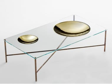 Low rectangular coffee table for living room GOLDEN MOON | Rectangular coffee table