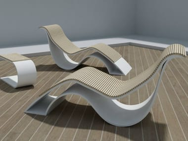 Chaise longue in Solid Surface EPOQUE | Chaise longue