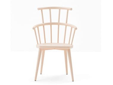 High-back beech chair W. | High-back chair