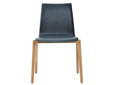 Gepolsterter stapelbarer Stuhl aus Stoff ALEC PLUS | Gepolsterter Stuhl