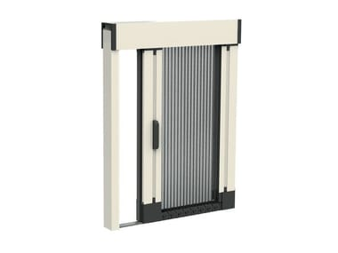 Pleated insect screen with guide system SOFFY | Insect screen with guide system
