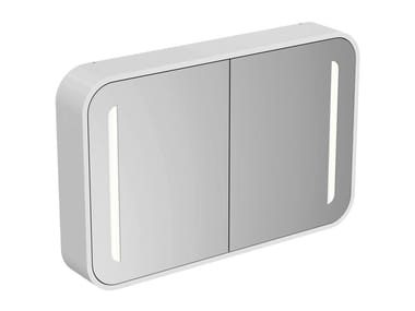 Bathroom mirror with cabinet with integrated lighting DEA - T7856