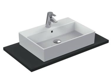 Lavabo da appoggio rettangolare singolo in ceramica STRADA - K0781