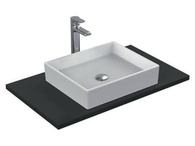 Lavabo da appoggio rettangolare singolo in ceramica STRADA - K0776