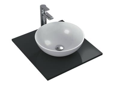 Lavabo da appoggio rotondo singolo in ceramica STRADA - K0795