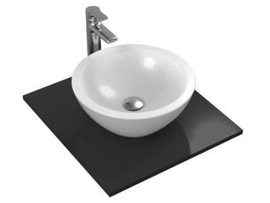 Lavabo da appoggio rotondo singolo in ceramica STRADA - K0783