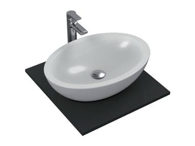 Lavabo da appoggio ovale singolo in ceramica STRADA - K0784