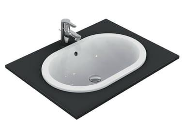 Lavabo da incasso soprapiano ovale CONNECT 62 x 41 cm - E5049