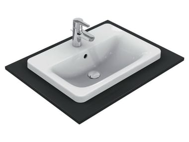 Lavabo da incasso soprapiano rettangolare singolo CONNECT 58 x 42 cm - E5044