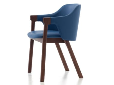 Ash chair with armrests LODEN 02