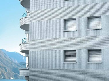 Lightweight concrete block partition BLOCCO ARCHITETTONICO SPLITTATO RIGATO