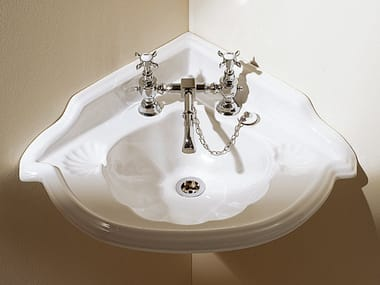 Wall-mounted corner washbasin OXFORD | Corner washbasin