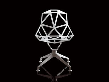 Trestle-based die cast aluminium chair CHAIR_ONE_4STAR