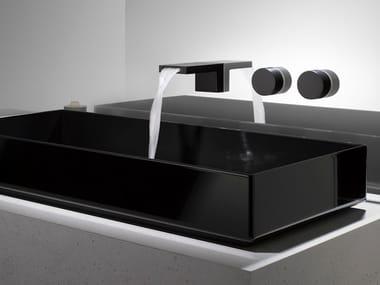 Miscelatore per lavabo a 3 fori con rosette separate DEQUE | Miscelatore per lavabo a 3 fori