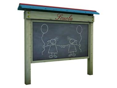Pine chalkboard SORRISO