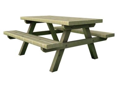 Table pour espaces publics avec bancs intégrés STELVIO baby