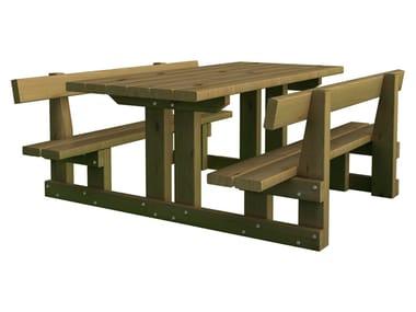 Table pour espaces publics avec bancs intégrés SPLUGA baby