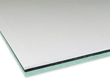 Sound insulation and sound absorbing panel in synthetic fibre REWALL