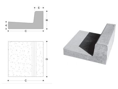 Concrete element for perimeter enclosure Concrete element for perimeter enclosure