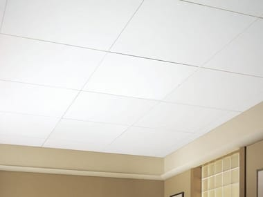 Acoustic glass-fibre ceiling panels OPTIMA VECTOR