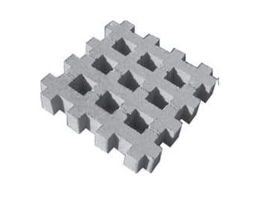 Grigliato erboso in cemento Grigliato erboso in cemento