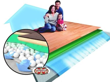 Mat underfloor insulation and vapor barrier TUPLEX
