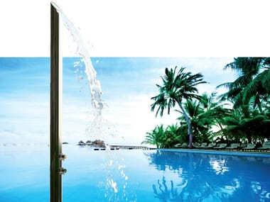 Stainless steel outdoor shower AQUABAMBÚ