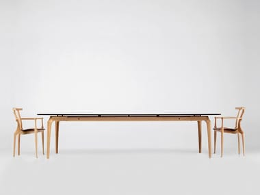 Rectangular solid wood dining table GAULINO   Solid wood table