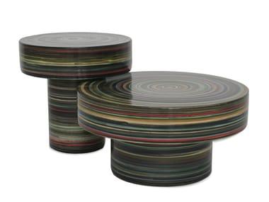 Round porcelain stoneware coffee table NW1