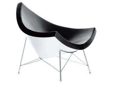 Leather armchair COCONUT