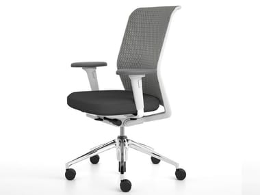 Swivel office chair with armrests ID MESH