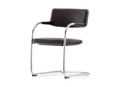Cantilever visitor's chair with Armrests VISAVIS SOFTBACK