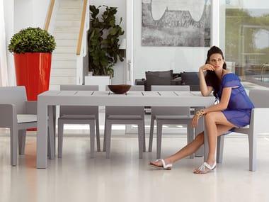 Rectangular resin garden table JUT | Rectangular garden table