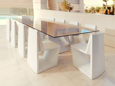 Rectangular glass table REST   Rectangular table